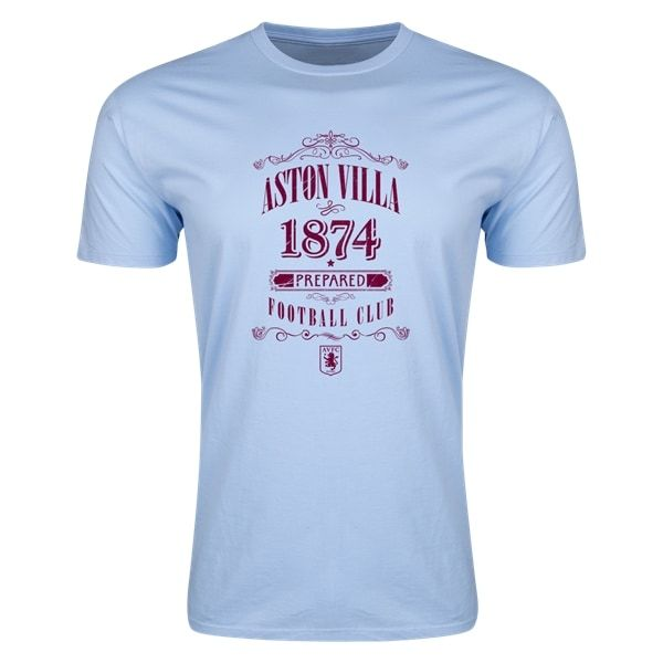 Aston Villa Distressed Mens Fashion T-Shirt