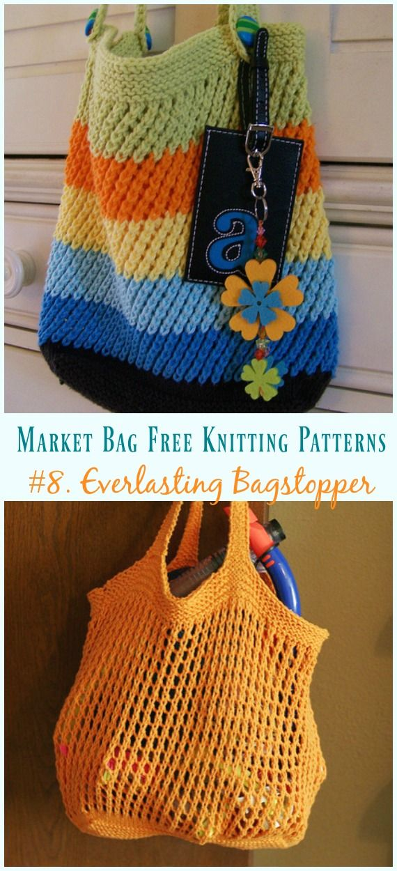 Weightless Produce Bag Knitting Free Pattern - Market Bag Free