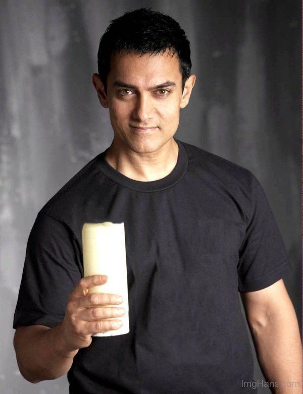 Aamir Khan In Black Shirt
