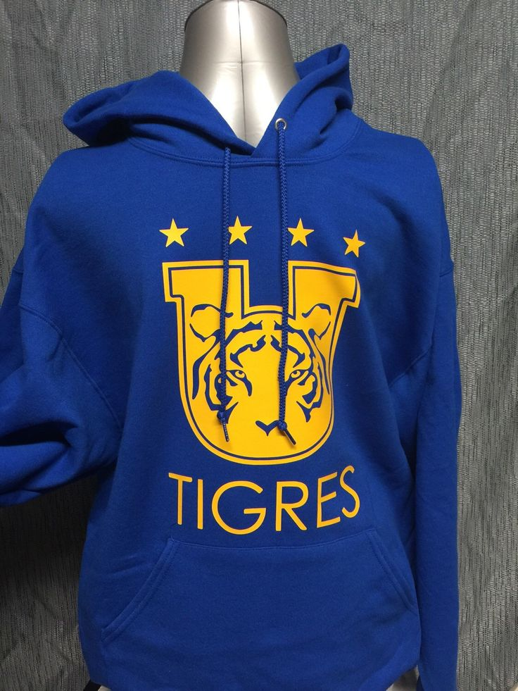 A personal favorite from my Etsy shop https://www.etsy.com/listing/265651117/tigres-uanl-team-personalized-hoodie