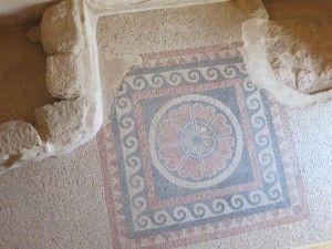 a mosaic in Masada