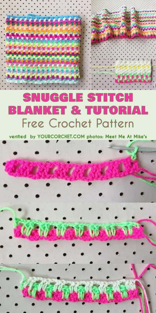 Snuggle Stitch Blanket Free Crochet Pattern and Tutorial #freecrochetpatterns