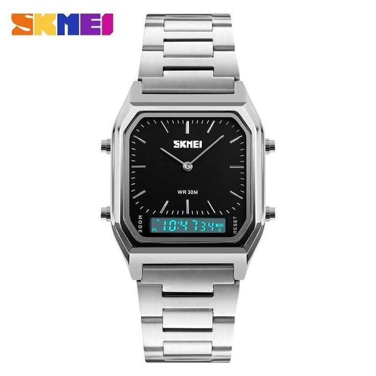 Jam Tangan Pria Premium SKMEI Digital Analog DG1220 Hitam