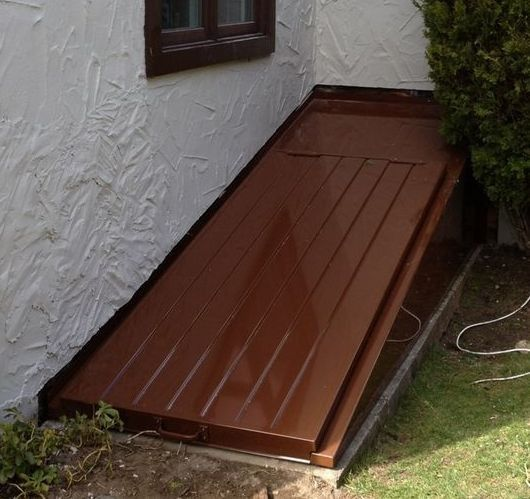 Outdoor Basement Stairwell Cover: 9 Best Deck Ideas Images On Pinterest