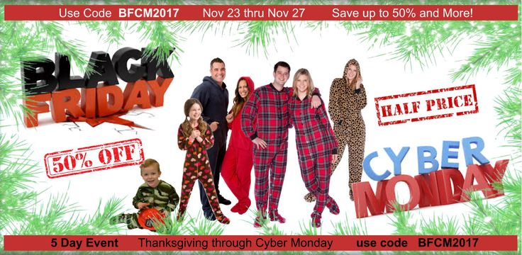 Black Friday Cyber Monday HUGE SALE PLUS coupon to get items near or better than half off non-sale prices.   Onesies & footed pajamas for adults and children.  Christmas gift ideas, Black Friday gifts, Cyber Monday deals, Black Friday coupons, Cyber Monday coupons #BFCM2017