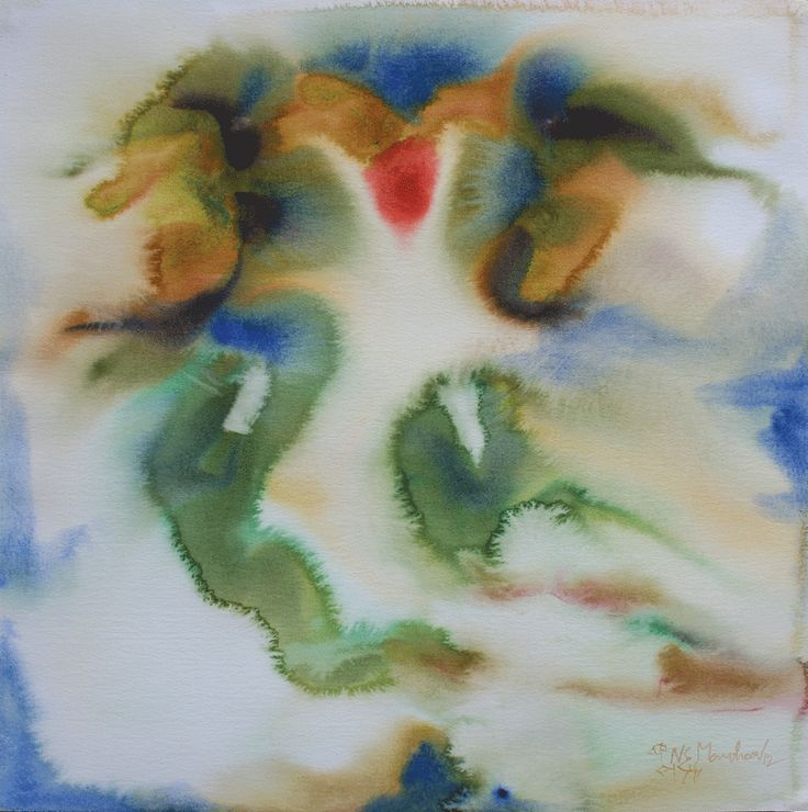 "'Art By NS Manoharan 'Untitled-2'  22"" X 30"" water colour on board"