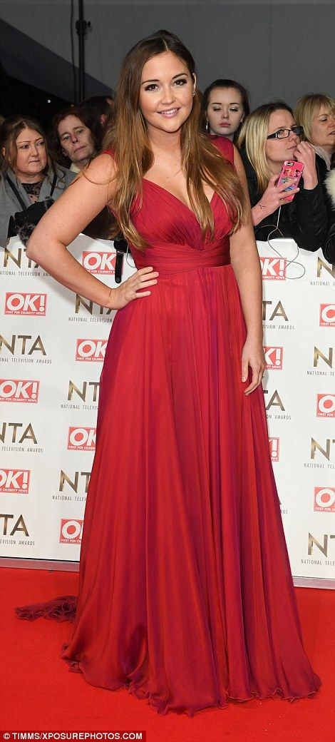 Jacqueline Jossa wowed in a red gown as she flew the flag for EastEnders at the bash