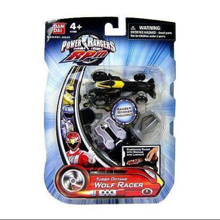 Power Rangers RPM Turbo Octane Wolf Racer 6.5 inch Action Figure, Multicolor