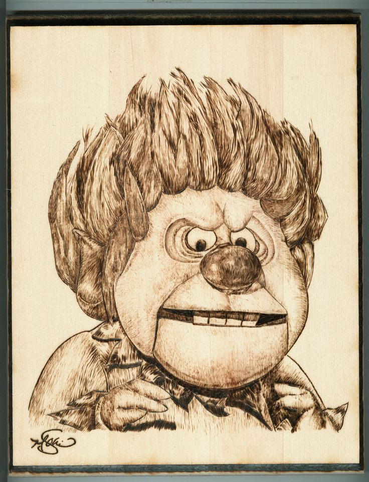 "Heat-miser, 8"" x 10"" Wood Burning, December 2016"