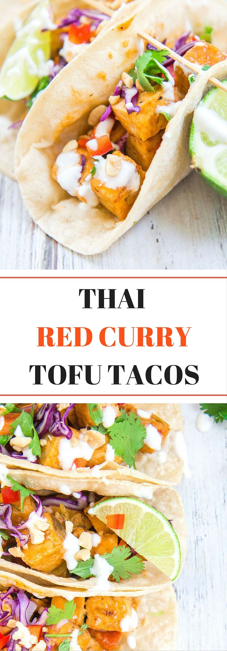 Theses Thai red curry tofu tacos are bursting with Thai flavours! They're the perfect dish for your next taco Tuesday! (V& GF)