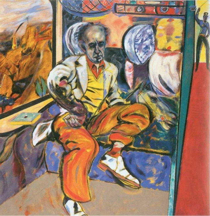 R.B. Kitaj, The Jewish Rider, (1984-85), oil on canvas 60 X 60 inches