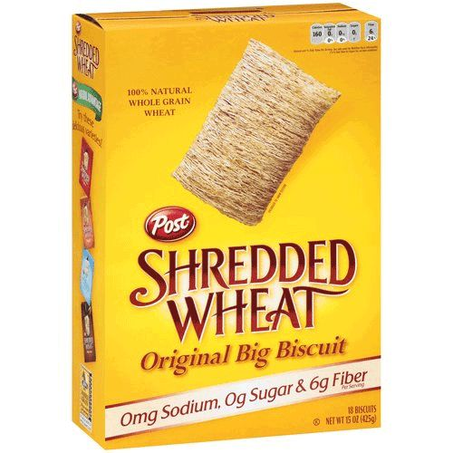 Shredded Wheat Cereal is Sugar Free and Non-GMO! Woo hoo!