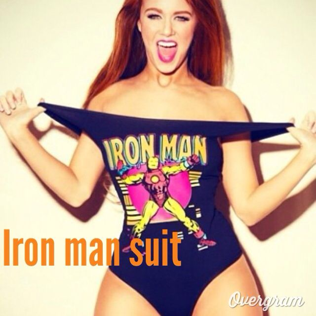 Iron man suit a bathing suit I need it.