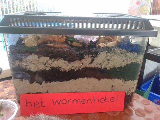 wormen in de klas, thema herfst