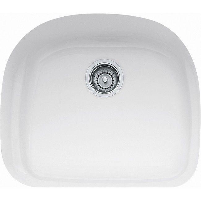 White Single Bowl Kitchen Sink