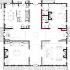 greek revival old southern plantation house floor plans | Antebellum Inspiration – House Plans, Home Plans, Home Floor Plans