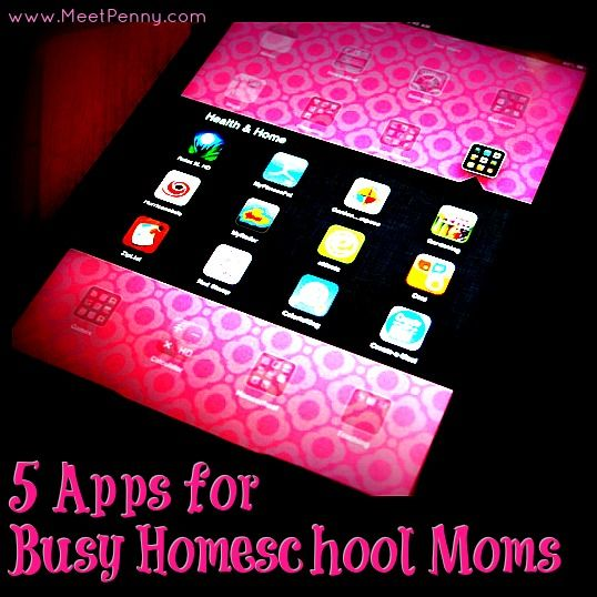 5 apps perfect for busy homeschool moms  http://www.meetpenny.com/2013/08/5-apps-for-busy-homeschooling-moms/