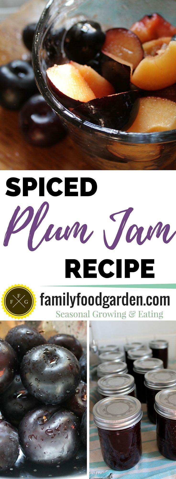Home canning recipe: Spiced Plum Jam