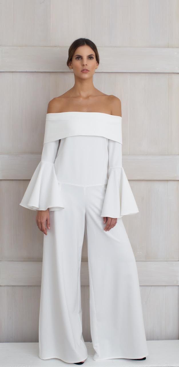 Alejandra Isaac Resort 2016 Sevilla jumpsuit-White