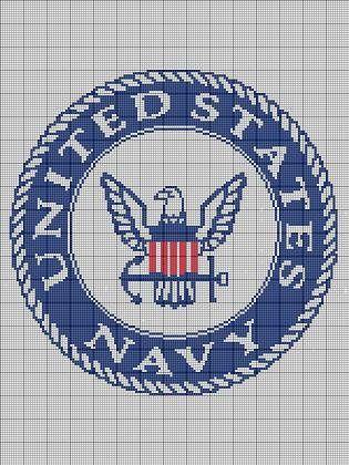 UNITED STATES NAVY CROCHET PATTERN AFGHAN GRAPH #193 | crochetpatternsetc - Patterns on ArtFire