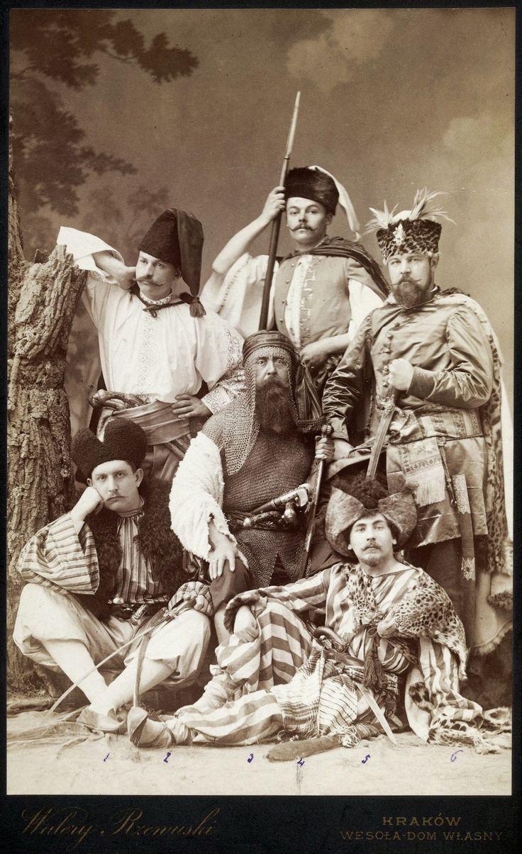 Group in historical costumes (With Fire and Sword) by Walery Rzewuski, 1884 (PD-art/old), Muzeum Narodowe w Warszawie (MNW)