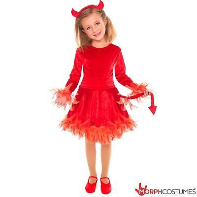 #Girls little devil fancy #dress costume incl #horns & tail great for halloween, View more on the LINK: http://www.zeppy.io/product/gb/2/371677909748/