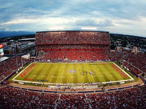 University of Arizona   University of Arizona - Arizona Stadium Photographic Print at ...