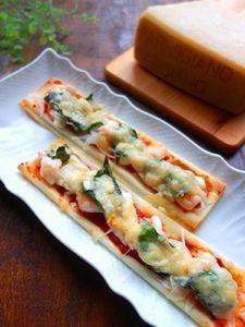 パルミジャーノとろけるシーフードスティックピザ