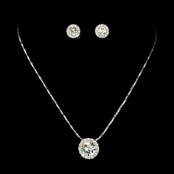 5 Sets Rhinestone Pendant Bridesmaid Jewelry for your wedding party - Affordable Elegance Bridal -