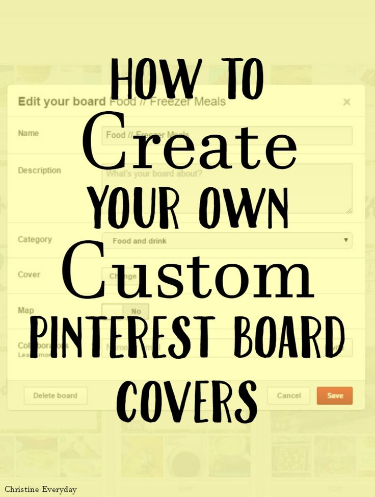 8 best daily code images on pinterest social media marketing how to create your own custom pinterest board covers christine everyday fandeluxe Image collections
