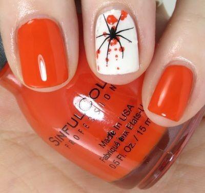 оранжевый цвет лака для ногтей 2016