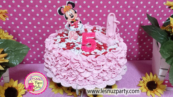 Tarta temática Minnie bailarina Lesnuzparty - Minnie themed cake