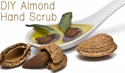 DIY Almond Hand Scrub: 1 3C Almonds, Olive Oil, Hand Scrubs, Hands, Almonds 1 2 1T, Almond Hand, Diy