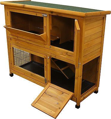 4ft guinea pig house two tier