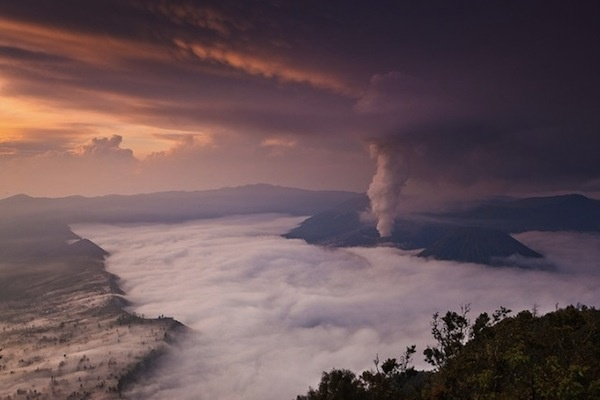 Smoke Formations From An Active Volcano