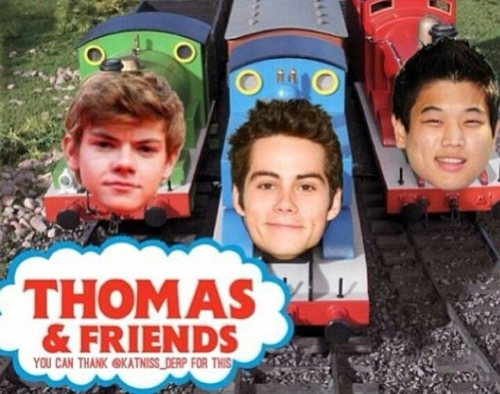 THOMAS THE TRAIN! HAHAHAHAHAHAHAHA! No way.....this is just too great. The movie isn't even out yet and the whole fandom is already losing it! XD