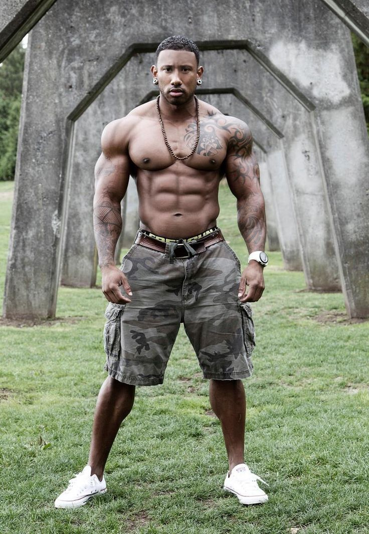 Gorgeous Black Men Wmuscles  Future Possibilities Sexy -4078