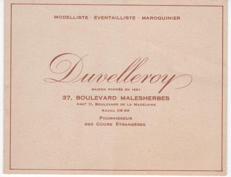 Duvelleroy éventails maroquinerie modèle