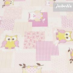 jubelis® Wachstuch Meterware, Tischdecken und Rollen Eulen violett