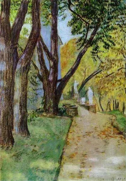 Прогулка в парке, 1904 - Виктор Борисов-Мусатов