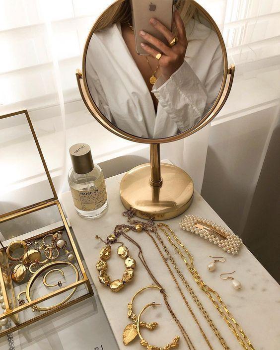 Gold Jewelry #jewelry #goldjewelry #beautysetup