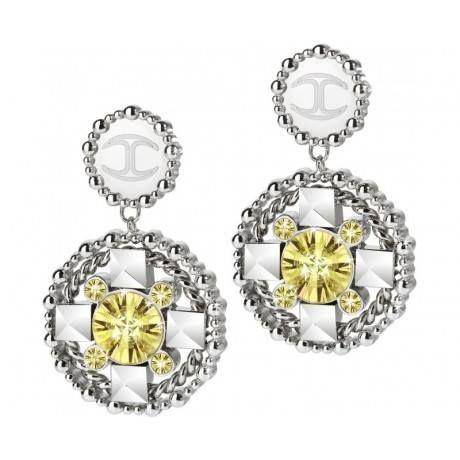 Buongiorno a tutti...Just Cavalli #orecchini #donna con #cristalli gialli!!! Cosa ne pensate???