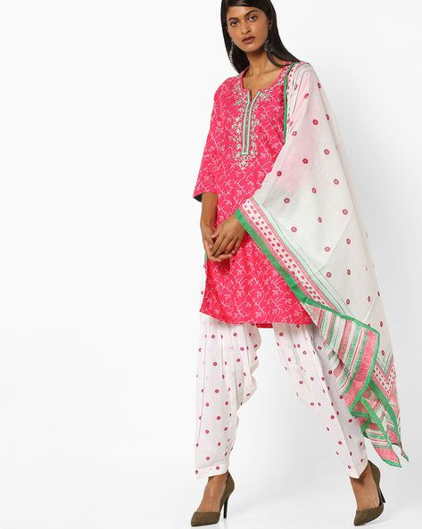 f1ebfcfe6e Patiala Kurta & Dupatta Set | Avi - Mom - Salwar set | Pink, Women ...