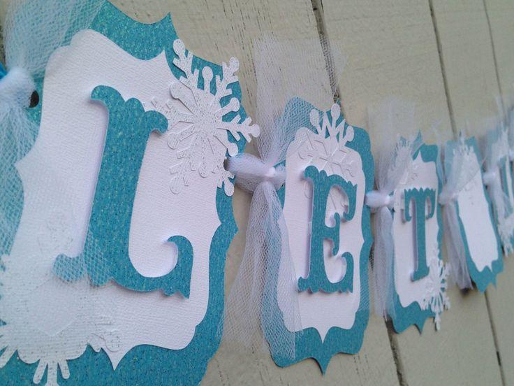 Frozen banner LET IT GO by CelebrationBanner on Etsy https://www.etsy.com/listing/196681551/frozen-banner-let-it-go