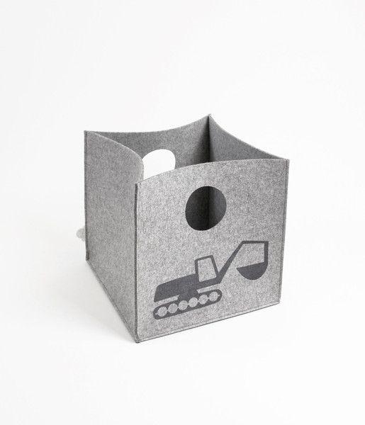 Lekekasse | tractor & excavator | grå