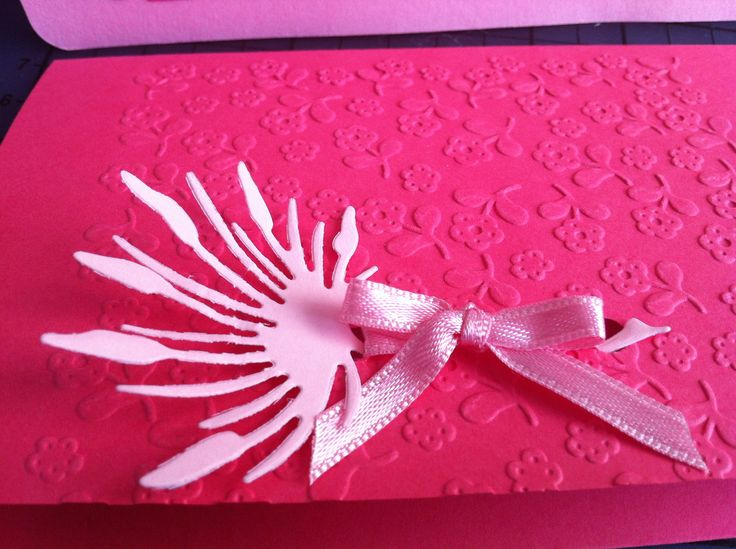 Christening invitation - flower