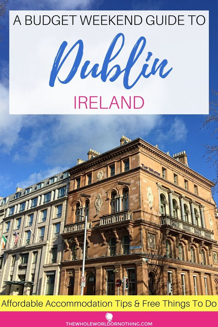 Planning a cheap Dublin break? Here's how to find affordable accommodation & lots of free things to do in Dublin, including, must see attractions, the best live music & free museums | #dublin #ireland #templebar #weekendbreak #bestofeurope #europeancity #bestpubs #guinness #phoenixpark #graftonstreet #freemuseums #templebar #dublincastle