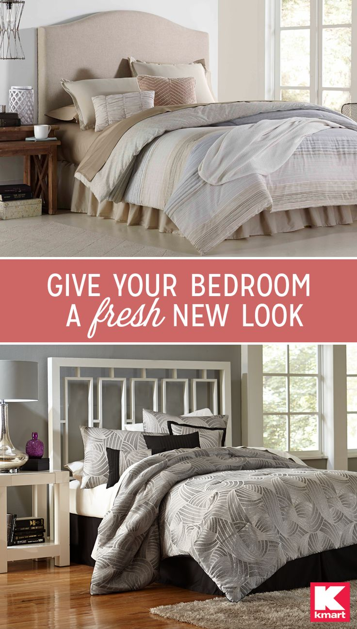 Whether you're a little more traditional or a little more modern, add some serious style to any bedroom with Kmart's line of bedding and home furnishings. Discover modern, fun touches from Essential Home – like abstract comforters and simple pillows or simple and subtle patterned bedding and pillows from Cannon – that give your brag-worthy bedroom fresh new look. Find any style of bedding with the help of Kmart today.