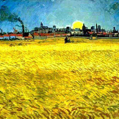 Sunset: Wheat Fields Near Arles (1888) Kunstmuseum Winterthur, Switzerland