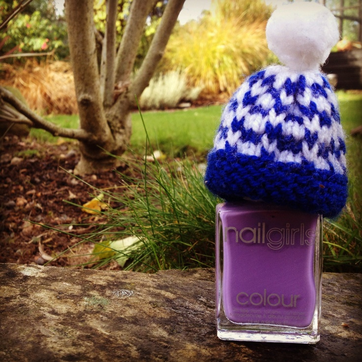 Purple #9 is keeping warm on a chilly winters day!